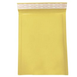 Wholesale 10 Pack Moistureproof Padded Mailing Anti pressure Paper Bubble Envelopes Bag Packaging Yellow Self Seal