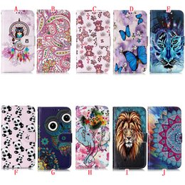 Iphone owl cover case online shopping - For Iphone Pro Max Samsung Galaxy NOTE10 Pro Oil Wallet Leather Case Flower Butterfly Tiger Owl Mandala Cover