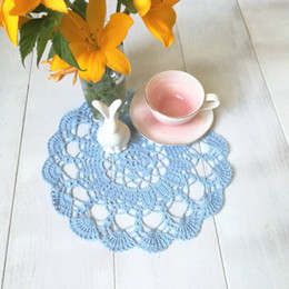 $enCountryForm.capitalKeyWord UK - Diameter 24 cm - 9 inches. 6 Piece crochet doilies fabric table lace placemats coasters kitchen accessories Dial Custom Colors
