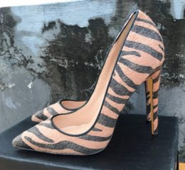 $enCountryForm.capitalKeyWord Australia - brown Horse hair Single shoes Cusp Fine heel Women's high heel shoes 8cm 12cm 10cm large size 44 wedding dance nightclub Red bottom shoes