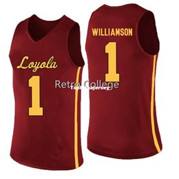 2ae048f80 Loyola Ramblers 0 Donte Ingram 1 Lucas Williamson Red white College  stitched Basketball JerseyS XS-6XL vest Jerseys NCAA