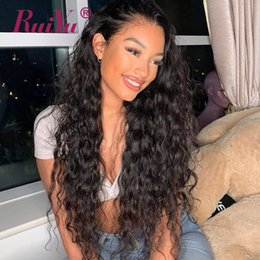 $enCountryForm.capitalKeyWord Australia - Full Lace Wigs Human Hair With Baby Hair Water Wave Lace Front Wig Pre Plucked Peruvian Remy Wigs Ruiyu Frontal Cheap Lace Wig