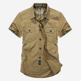 $enCountryForm.capitalKeyWord Australia - Summer Military Style Men Casual Shirts Spring High Quality Cotton Solid Shirt Classic Design Breathable Brand Dress Shirts
