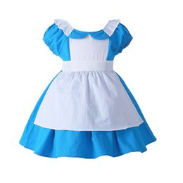 lolita dresses for cosplay NZ - Alice In Wonderland Costume Dress Lolita Dress Maid Cosplay Carnival Costumes For Kid Children J190616