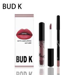 Lipstick Waterproof Branded Australia - Brand BUD K liquid matte lipstick lips pencil makeup lasting waterproof Mate lip gloss rouge a levre cosmetics lip kit batom