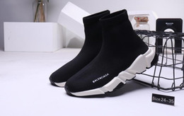 rubber shoes baby socks Canada - 2020 Fashion Children Speed Trainer Breathable Kids Sneakers Baby Boy Girl Toddler Youth Sock Race Runners Black Sports Shoes