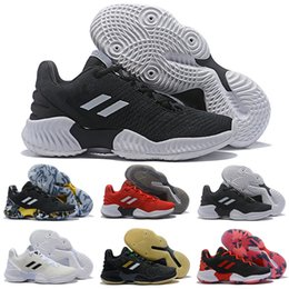 6e1ec3553 New Embiid Porzingis Mitchell Pro Bounce Low Outdoor Shoes for Top quality  Black Red Mens trainers Training Sneakers Size 40-46