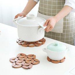 $enCountryForm.capitalKeyWord Australia - Insulation pad anti-hot mat plate cushion bamboo round creative home kitchen table mat pot pad bowl tableware