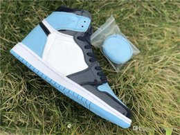 $enCountryForm.capitalKeyWord Canada - 2019 New Authentic 1 High OG UNC Patent Men Basketball Shoes 1S WMNS ASG Obsidian Blue Chill White CD0461-401 With box