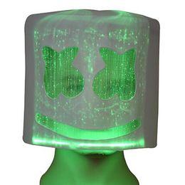 $enCountryForm.capitalKeyWord Australia - DJ mask Festival Helmet Halloween Mask LED light up Neon Party Props Costume lates full head masks color changeable