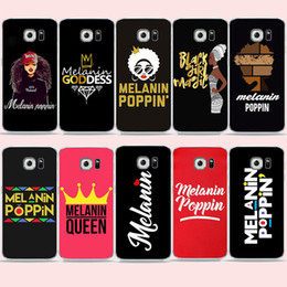 s6 edge girl cases 2019 - Melanin Poppin Queen phone Case For Samsung S7 edge s6 S9 S8 Plus A6 A7 Black Girl Magic Cover for Galaxy Note 8 Soft TP