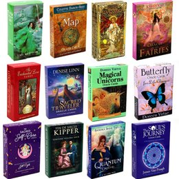 44-78pcs Golden Art Nouveau Tarot Card Sacred Traveler Oracle Loving Words from Jesus Fairies Quantum Butterfly Sacred Self-Care on Sale