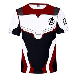3d tshirts long sleeves online shopping - Avengers Endgame Mens Tshirts Women Teenager Boy Clothing Tees Summer D Designer Tees Short Sleeved Tops