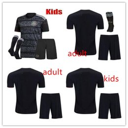 9c2d640b1af Adult Kids kits 2019 Gold Cup Mexico Soccer Jersey Home black 19 20  CHICHARITO H. LOZANO youth child football jerseys set shirts
