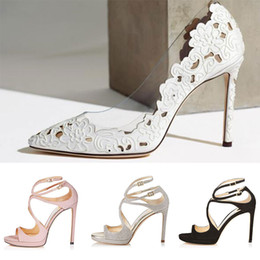 Lace up styLe sandaLs online shopping - 2019 Women Designer Sandals So Kate Styles Fashion Luxury girl high heels CM CM LANCE black pink white Silver Leather size withbox