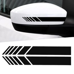 Car Side Mirror Stickers Australia - Car Sticker 2pcs 15.3*2cm Auto SUV Vinyl Graphic Car Sticker Rearview Mirror Side Decal Stripe DIY Body Decals Styling