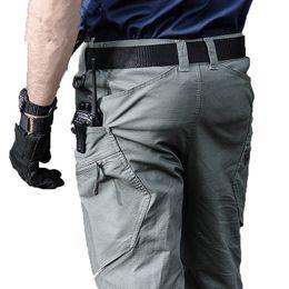 Cotton Combat Trousers NZ - Men Tactical Pants Style Army Combat Cargo Pants SWAT Waterproof Large Multi Pocket Cotton Casual Long Trousers S-2XL