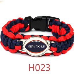 $enCountryForm.capitalKeyWord Australia - American Athletics LEAGUE new York football teams survival paracord bracelets bangles for fans gifts