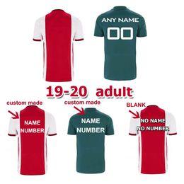 Ingrosso Ajax Jersey 2019 Home Msterdam Camiseta Futbol Van De Beek Neres Kit per bambini in trasferta Tadic Ziyech Football Camicia Ajax Soccer Jersey 2019