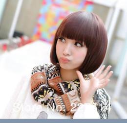 $enCountryForm.capitalKeyWord Australia - LL New Womens Korea Short Straight BoB Hair Full Bangs Cosplay Costume Party Wig