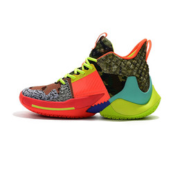 super sport sneaker NZ - 2019 New Russell Westbrook 2 Why Not Zer0.2 Thunder Mens Basketball Shoes for Good quality Black Super multicolor Sport Sneakers Size 40-46