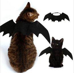 winged tops Canada - 5PCS Funny Cats Cosplay Costume Halloween Pet Bat Wings Cat Bat Costume Fit Party Dogs Cats Playing Pet Accessories Top Quality