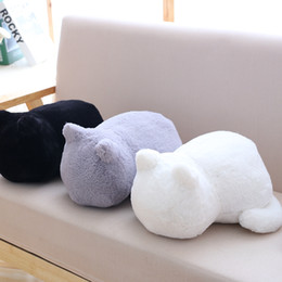 plain dolls 2019 - Simulation cartoon doll cat doll cat plush toy pillow real life pillow gifts Cute Home Decoration discount plain dolls