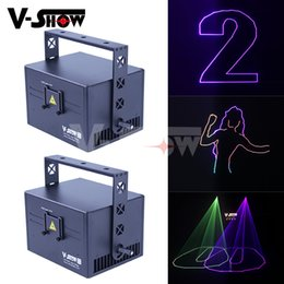 $enCountryForm.capitalKeyWord Australia - 2pcs 2019 New Arrival 3W RGB Animation Laser Satge Light Programmable Projector Dj Light For Bar Disco