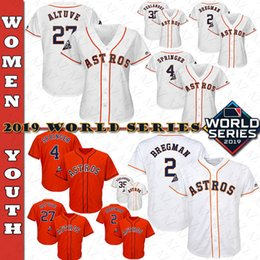 verlander jersey Australia - Houston 2019 World Series Womens & Youth Kid Astros George Springer Alex Bregman Jose Altuve Justin Verlander Carlos Correa baseball Jerseys