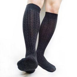 Wholesale mens dress socks online – funny Thermal Winter Socks Over Knee Mens Stocking Thickness Business Long socks Formal Dress suit Fashion Male Hose Stockings
