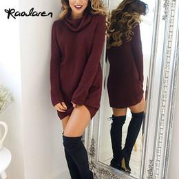dcd6d6294abb Vestiti di lana delle donne di Raodaren Vestiti di autunno e di inverno  casuali 2017 mini vestiti dal collo a maniche lunghe del collo alto sexy  delle ...