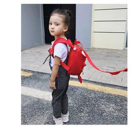 Shoulder Straps Backpack NZ - INS Kids ANTI-LOST Backpack Baby shark Shoulder Bag Boys Girl Schoolbag Rucksack Cartoon Baby Harnes Toddler Safety Strap 2019A52208