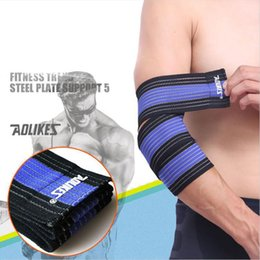 Elastic Elbow Brace Australia - AOLIKES 7 Colors Elastic Sports Bandage Wrist Knee Support Protection Belt Wrap Brace Band Bandage Elbow Pad Length 70CM 2 Pcs