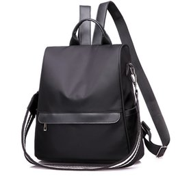 Grey Back Pack Australia - Fashion 2019 Simple Students Travel Backpack Women Solid Casual Oxford Solid Bag Grey Black Girls Back Pack Bags For Women