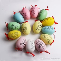 $enCountryForm.capitalKeyWord Australia - New Arrival DIY Easter Egg Kids Water Pen Painting Color Egg Toy Easter Egg Set Free Shipping