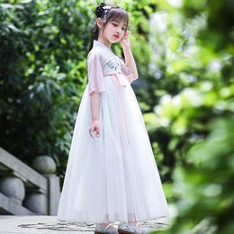 Chinese Suits Australia - Chinese style girl Hanfu super fairy costume Children's improved Tang suit Girl ancient dress summer dress D118