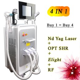 Laser Hair Face Canada - Top quality 4 in 1 Multifunction laser hair removal machine E-light diode laser hair removal RF Skin Rejuvenation 300000 shots nd yag laser