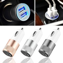Custom Autos Australia - Dual USB Car Charger Adapter 3.1A Auto Vehicle Metal Charger For Smart Phone Tablet