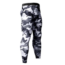 gold compression shorts Canada - 14 Colors Brand Camo Compression Pants Men Sport Wear Jogging Pants Men Sporting Leggings Training Gym Man Running Shorts