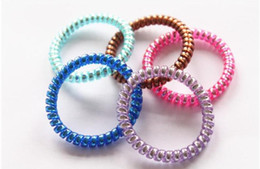 $enCountryForm.capitalKeyWord Australia - Candy Colored Telephone Line Hair rope Fashionable Gum Elastic Ties Wear Hair Ring Spring Rubber Band Accessory Maker Tools Mix Color