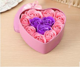 Best Selling Birthday Gifts For Family Girlfriends And Close Friend Eternal 11 Rose Soaps Love Iron Box