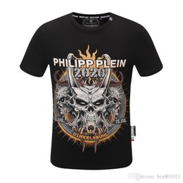 skull printed shirts Australia - 2020ss qp t shirt summer new high grade cotton printing short sleeve round neck panel luxury T-Shirt Size: m-xxxxl- women skull M38