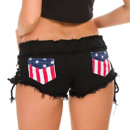 Poles Lady Australia - Black Women Sexy Shorts Jeans Super Bandage Mini Denim Shorts Booty Casual Vintage DS Pole Dance Club Party Bodycon Ladies Short