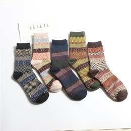 huf sock packs Australia - Men Winter Warm Thicken Breathable Comfortable Middle Tube Socks Pack of Casual Multicolor