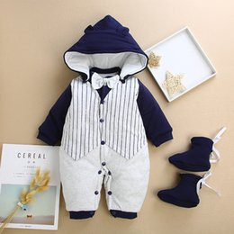 37ac27acf8a good quality Baby Rompers Newborn Baby Boys Girls Winter Rompers Jumpsuit  Clothes Toddler Infant Hooded Cartoon Thick Warm Outfits