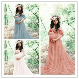 $enCountryForm.capitalKeyWord NZ - New Hot Maternity Dress Women Photography Props Pregnant For Photo shoot Maternity Dress Gown Wedding Party Maxi Pregnancy Dress