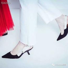 Опт 2019 Высокие каблуки Slingback Pumps, High End женские туфли на шпильках из черной технической ткани с размером ленты 34-40