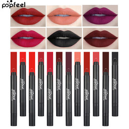 $enCountryForm.capitalKeyWord NZ - Ready stock Best 12 Color Matte Lipstick Pencil Women Lips Matte Long Lasting WaterProof Lip Stick Pen Beauty Essential Lip Makeup Cosmetics