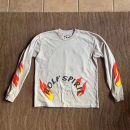 Holy sHirt online shopping - 19ss Kanye West Sunday Service Holy Spirit CPFM Mens T shirt Long Sleeve Tee Best quality Men Women Magpie Streetwear T Shirt
