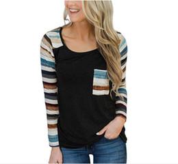 54041182 Black strip t shirt online shopping - Women Long Sleeve T Shirt New Womens  Strip Casual